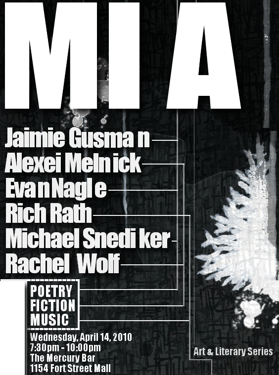 MIA Wednesday April 14 at Mercury